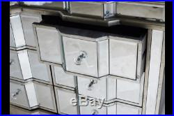 6 Drawer Mirrored Chest Bedroom Cabinet Living Room Storage Sideboard Unit New