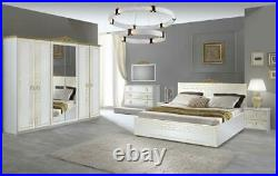 6 Psc Beautiful Compelte Olimp Bedroom Set With 3 Different Colors