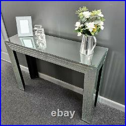 Bevelled Panelled Mirror Hall Display Console Bedroom Mirrored Dressing Table