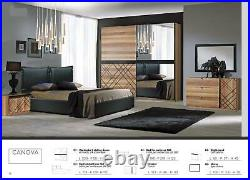 Canova 6 Psc Full Bedroom Set Suite Furniture Made In Italy