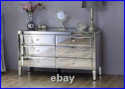 Chelsea Mirrored six drawers chest of drawers ideal bedroom storage
