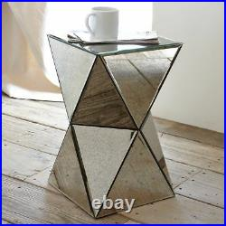 DIAMOND Mirrored Mirror Bedside Bed Side Coffee Table Stand Living Room Bedroom