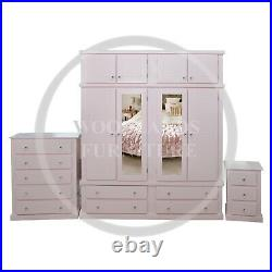 Hand Made Dewsbury Quad 3 Piece Mirrored Bedroom Set In Pink (assembled)