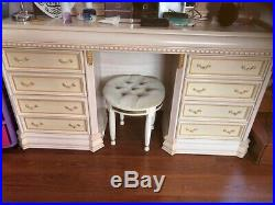 Italian Cream And Gold Complete Bedroom Furniture