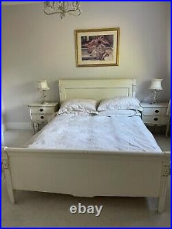 Laura Ashley Bedroom Set Double Bed, Chest of Drawers, Mirror, 2 Bedside Tables