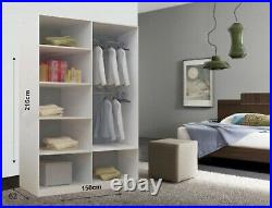 Milan Bedroom Sliding Wardrobe 4 Colors and 6 Sizes(Free Delivery Scotland area)