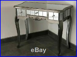 Mirrored Argente French Style Bedroom Living Room Dressing Table Console Table