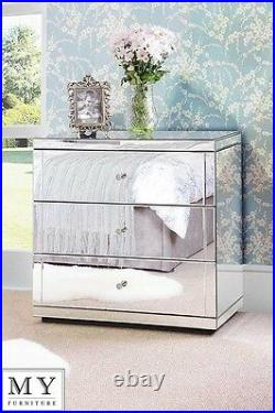 Mirrored Chest 3 drawers with Plinth FLAVIA