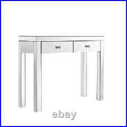 Mirrored Console Table Hallway Mirror Furniture Glass Lounge Bedroom Desk