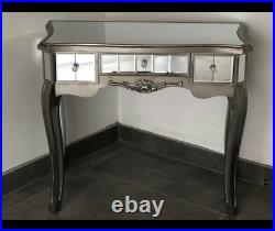 Mirrored Dressing Table French Style Argente Mirrored Dressing Table Bedroom