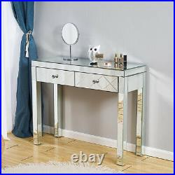 Mirrored Glass Console Dressing Table Venetian Bedroom Hallway Home Furniture