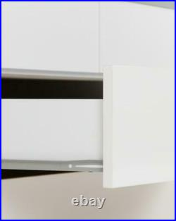 Nevada White High Gloss Bedroom Furniture Wardrobes, Chest Drawers Or Bedsides