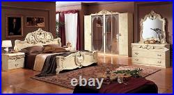 Rocco Italian High Gloss Bedroom Suite In Ivory