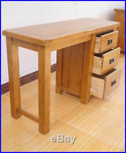 Rustic Solid Oak Dressing Table and Stool Bedroom Dressing Table no mirror