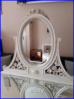 STUNNING French bedroom companyDressing table set With mirror and stool