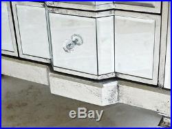 Stunning Bow Front 6 Draw Venetian Glass Mirrored Bedroom Chest of draws / 3695