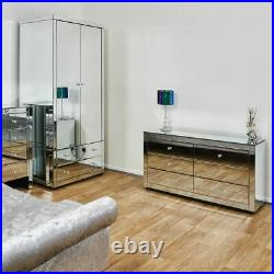 Venetian Mirror Chest of Six 6 Drawers Mirrored Storage Bedroom Lounge Furniture